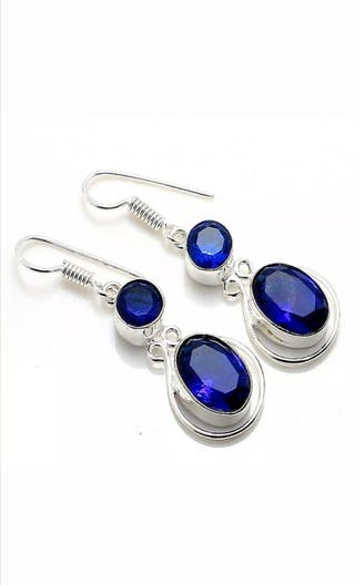 Pendientes NUEVO de Tanzanita y plata 925 joyas
