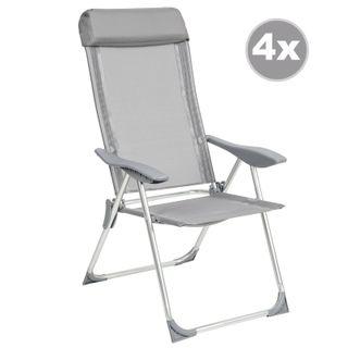 4 Aluminio Sillas de jardín plegable alu sillón