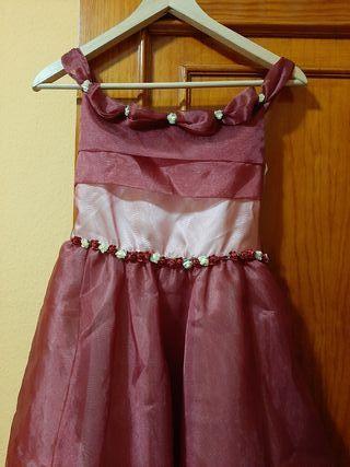 vestido de niña de dama de honor