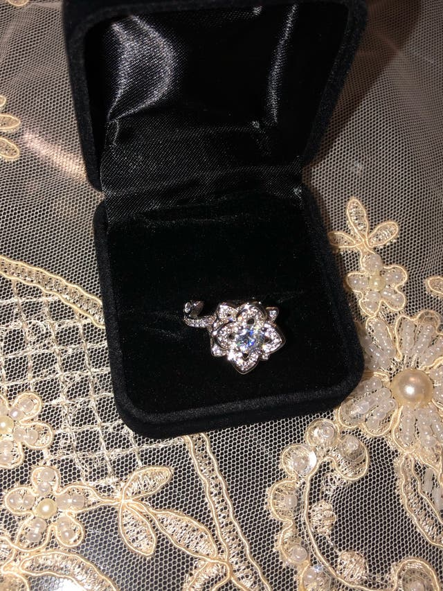 925 silver rose ring size o