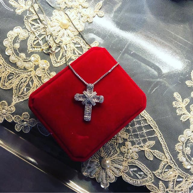 925 silver cross and chain