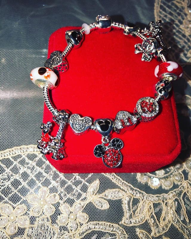 925 silver Disney charm bracelet