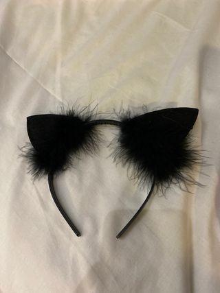 NEW black cat hair band