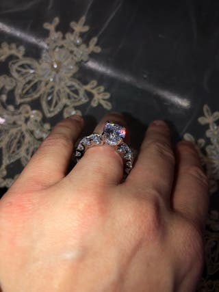 925 silver solitaire ring size o