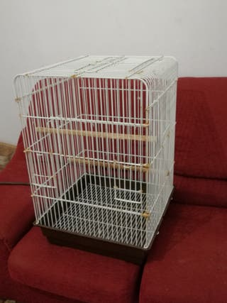 jaula jaulon de loros ninfas agaponis aves muy
