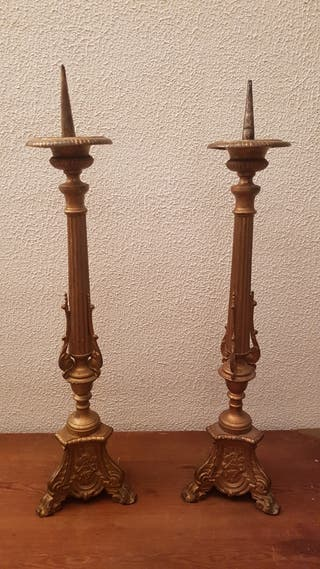 candelabros bronce antiguos siglo xix