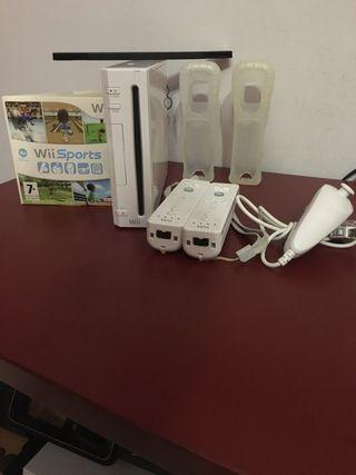 Wii Blanca + Mandos + Juegos + Funda Mandos