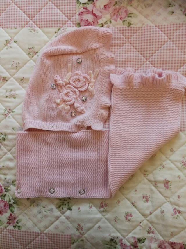 Capotas y bufandas niña