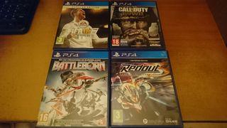 Lote de 4 Juegos PS4