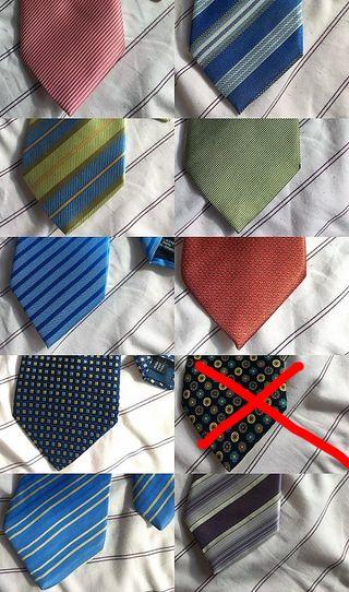 Lote 9 Corbatas Hombre Traje Oficina