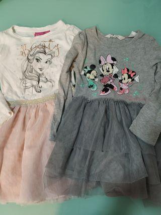 2 vestidos Disney 104cm