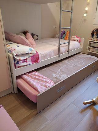 dormitorio infantil cama litera y armario
