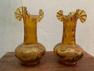 Pareja Floreros Jarrón Antigüedades