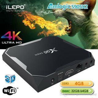 ANDROID TV X96 MAX 4GB 64GB NUEVO A ESTRENAR