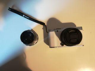 fujifilm x-a2 con dos objetivos