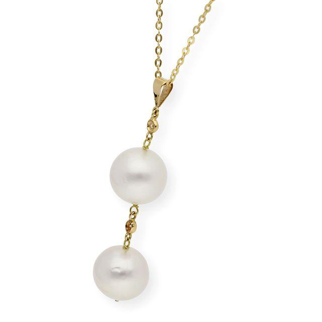 Collar y Colgante Perlas Australianas y Diamantes