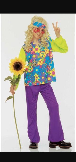 Disfraz hippie niño. Nuevo