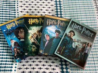 Dvds Harry Potter 1,2,3 y 4