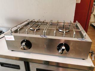 cocina dos fuegos a gas reestreno