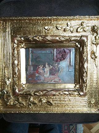Pareja de cuadros siglo XIX