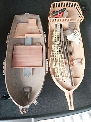 Piezas barco Playmobil antiguo.