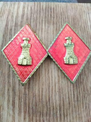 antiguas placas militares
