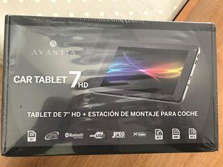 Tablet con soporte para coche