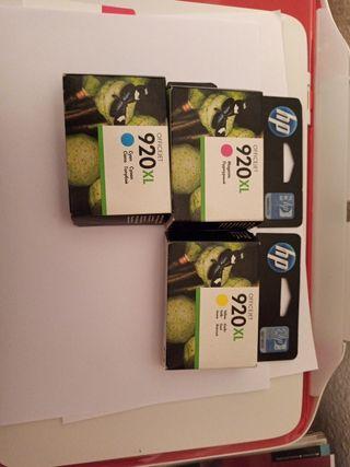 Cartuchos tinta HP 920 XL