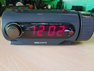 Reloj - Radio - Alarma despertador - Proyector
