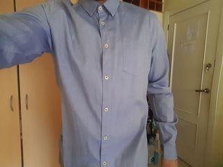 Camisa azul claro hombre zara talla L