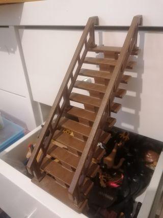 Escaleras marrones playmobil