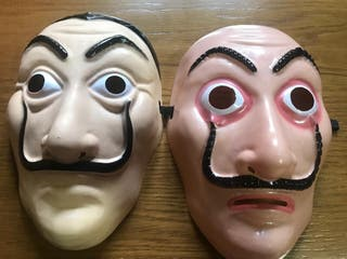 Máscaras Dalí, la casa de papel