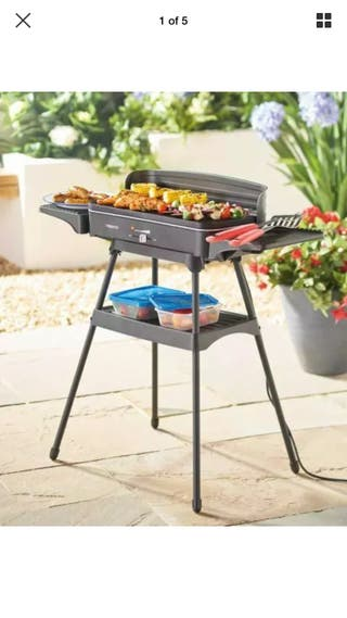 Electric grill table indoor and outdoor