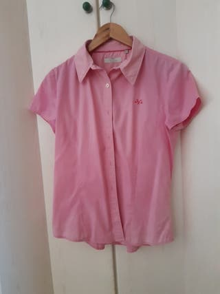 Thomas Burberry camisa rosa manga mujer logo de segunda mano