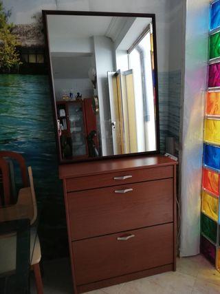 espejo mural 1,10x85
