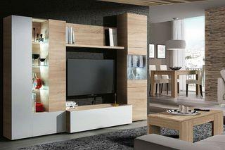 Mueble de comedor, modulo moderno para salon Leds