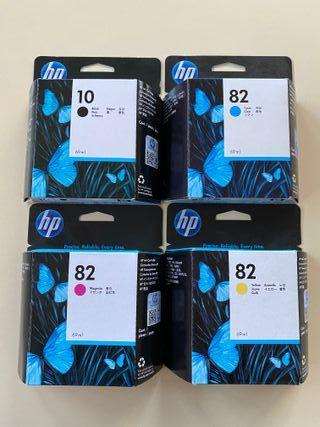Cartuchos de tinta originales HP 10 y 82