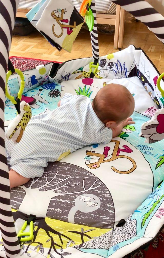 Corralito de bebé, alfombrita de juegos diam. 96cm