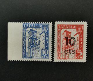 pareja sellos Guerra Civil Tafalla Navarra. Nuevos