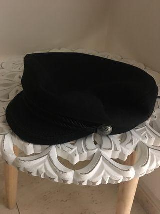 Gorra boina marinera negra nueva