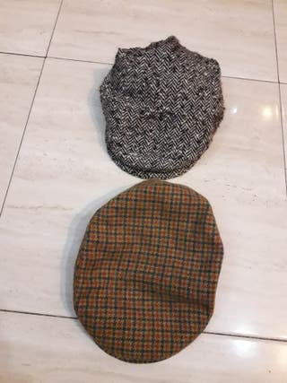 2 gorras visera hombre