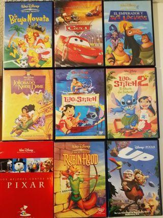 Películas de Disney y Pixar en DVD