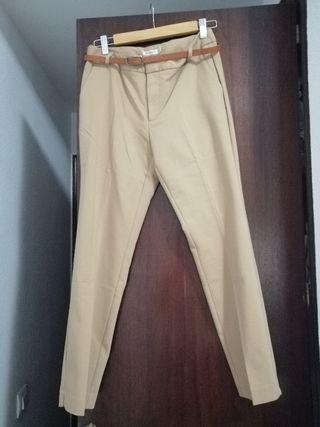 Pantalón camel de STR estilo chino 38 ¡NUEVO!