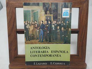ANTOLOGIA LITERARIA ESPAÑOLA CONTEMPORANEA