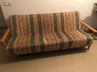 Sofá cama madera macisa 10€