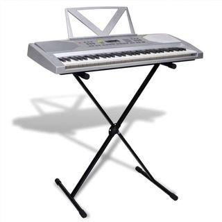 Piano electrico de 61 teclas con atril y soporte a