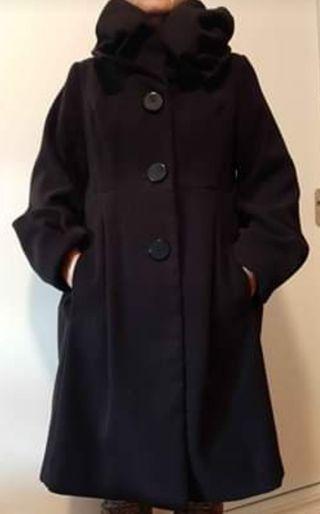 Abrigo negro talla 40