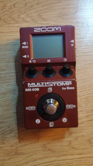 Zoom MS-60B multiefectos bajo ms60 pedal efecto