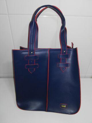Bolso azul y rojo Lavand