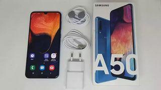 Samsung Galaxy A50 azul metalizado